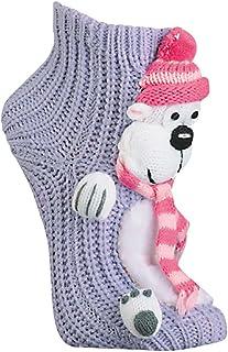 Wowerat, Mujer homesocks Invierno Animales Pingüino Alce Perros con Suela Calentito