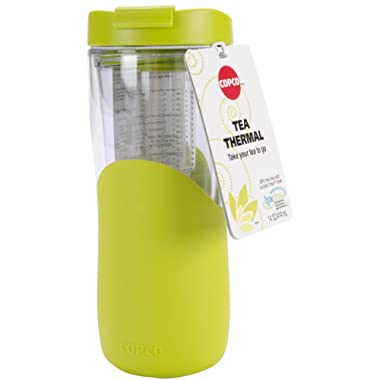 Copco 2510-9937 Tea Thermal Double Wall Tumbler with Removable Infuser, 14 ounces, Green