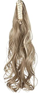 Long Wavy Ponytail Hair Extension for Women Drawstring Ponytail Hair Extensions Clip in Curly Synthetic Hairpiece