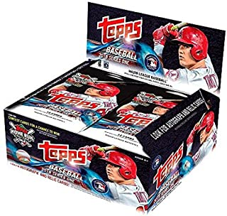 2018 MLB Baseball Series One Unopened Factory Sealed Retail Box with 24 Packs of 12 Cards each (288 cards total)