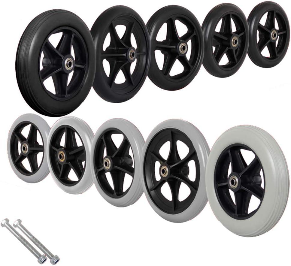 Gnova PVC Wheelchair Front Castor 6 17cm Inch Max 71% OFF 15cm Save money 8 7 In
