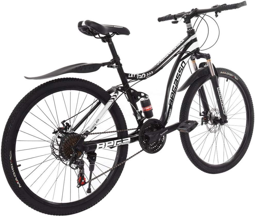 US in Stock VANP 26in Mountain Bike Men Women Adult Bicycle Full Suspension Carbon Steel Shimanos 21 Speed Bicycle MTB