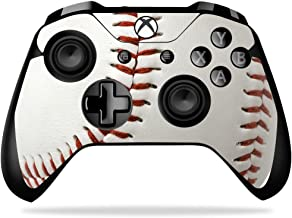 MightySkins Skin Compatible with Microsoft Xbox One X Controller - Baseball | Protective, Durable, and Unique Vinyl Decal wrap Cover | Easy to Apply, Remove, and Change Styles | Made in The USA