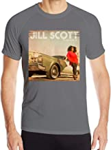 Shayprove Mens Print with Jill Scott The Light of The Sun Workout Quick Drying Short Sleeve Shirts