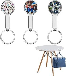 Bleu Rameng Crochets pour Sac /à Main Accroche Sac Porte-Sac /à Main de Table Pliable Hanger Hook Motif de Strass
