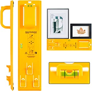 Picture Hanging Tool with Level Easy Frame Picture Hanger Wall Hanging Kit (Yellow)