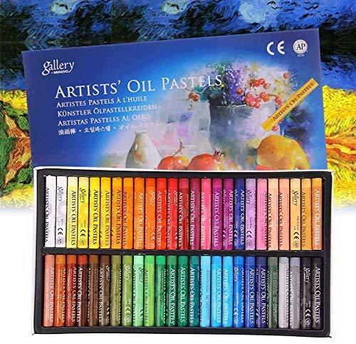 12/25/50 pcs Set de Pastel à l'huile Enfant Artiste Bâton de Peinture Dessin à l'Huile Non Toxiques Outil de Dessin Crayons de Cire Coloriage Papeterie Cadeau pour Enfants Artistes Professionnels