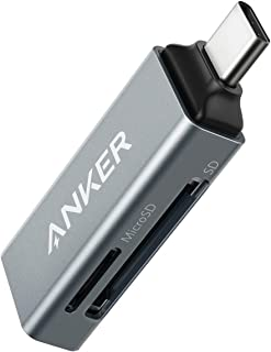 Anker 2-in-1 USB C to SD/Micro SD Card Reader for MacBook Pro 2018/2017, Chromebook, XPS, Galaxy S9/S8, and More