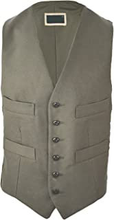 Clothing Unit Mens Moleskin Waistcoat Soft Cotton Body Warmer Olive Lovat