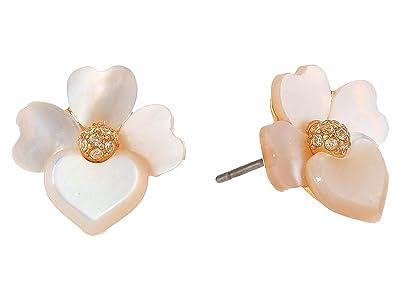 Kate Spade New York Precious Pansy Studs Earrings (Cream Multi/Gold) Earring