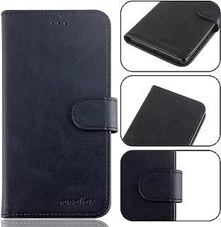 Maxku UMIDIGI One Pro/UMIDIGI One ケース 超軽量 PUレザー スタンドカバー 手帳型 保護ケース (ブラック)