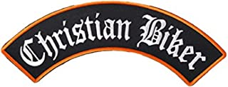 Hot Leathers, CHRISTIAN BIKER ROCKER, High Thread Embroidered Iron-On / Saw-On Rayon PATCH - 10