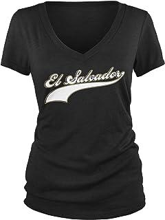 Amdesco 青少年 El Salvador 棒球,Salvadoran Pride V 领 T 恤