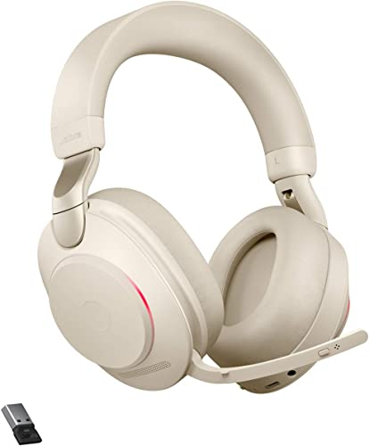 lowest Jabra Evolve2 high quality discount 85 - USB-A UC Stereo - Beige Wireless Headset/Music Headphones online