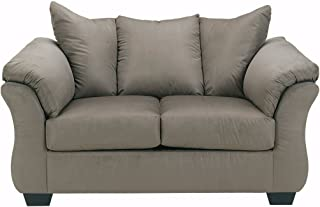 Signature Design by Ashley - Darcy Contemporary Microfiber Loveseat, Cobblestone