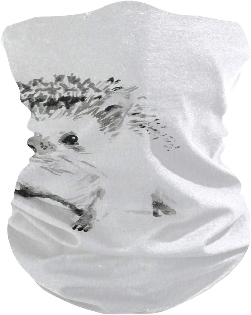 HedgehogPrint Headband Face UV Sun Protection Mask Neck Gaiter Magic Scarf Bandana Headwear Balaclava for Women Men