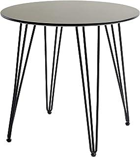 EGGREE Table à Manger Ronde Scandinave, Table de Cuisine avec Pieds en Métal pour Salle à Manger Cuisine Bureau Salon, 80x...
