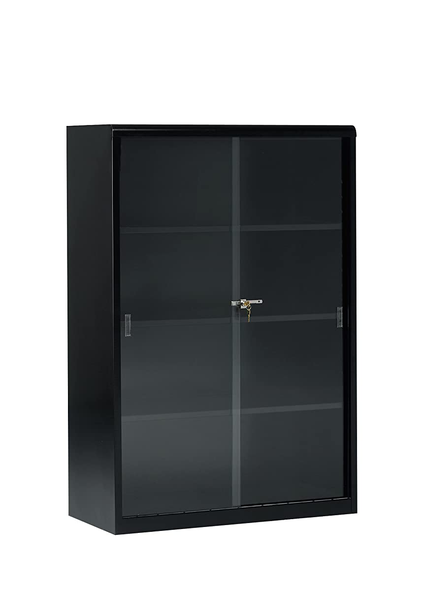 Tennsco 352GL Heavy Gauge Steel Executive Bookcase with Glass Doors and Lock, 36