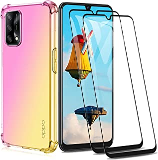 GOGME Hoesje voor OPPO A74 4G + 2 Screen Protector, Ultra-Slim Crystal Clear Anti Smudge Siliconen Zacht Shockproof TPU + ...