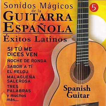 """Sonidos Mágicos de la Guitarra Española """" Éxitos Latinos"""" Vol 5"""