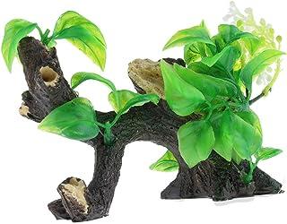 Fenteer Tronco De árbol Verde De Las Hojas De La Resina No Tóxica Que Ajardina La