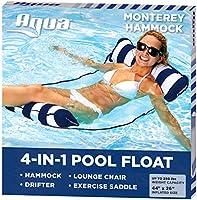 Aqua Leisure 4-in-1 Multi-Purpose Monterey Hammock (Saddle, Lounge Chair, Hammock, and Drifter), Supportive Mesh Lining,...