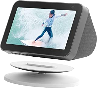 Adjustable Stand Accessories for Amazon Echo Show 8 and Show 5, 360 Degree Rotation Smart Speaker Mount Holder with Magnet...
