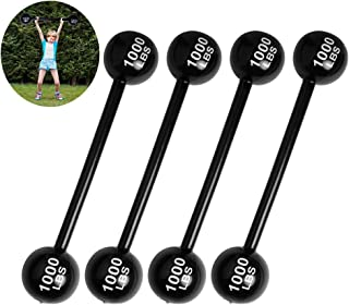 Moguer 120cm Inflatable Barbell Weight Lifting Dumbbell Inflatable Dumbbell Prop Cosplay Party Decoration Party Photo Props Strongman Costume Fancy Dress Accessory(4 Pieces)