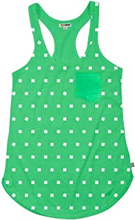 Women's St. Patrick's Day Tank Top with Clover - Green St. Paddy's Shirt for Female
