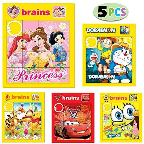 Schiebepuzzle, Bilderpuzzle, Spielzeug für Kinder, für kognitive Entwicklung, zum Lernen, für Geburtstagsparty, Schule, als Belohnungen im Klassenzimmer, Karnevalspreise, für Osterkörbe