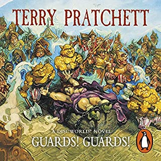 Guards! Guards!                   By:                                                                                                                                 Terry Pratchett                               Narrated by:                                                                                                                                 Nigel Planer                      Length: 10 hrs and 8 mins     2,670 ratings     Overall 4.8