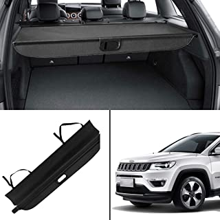Autoxrun Cargo Cover Rear Retractable Security Shield Fits 2016 Jeep Compass Black
