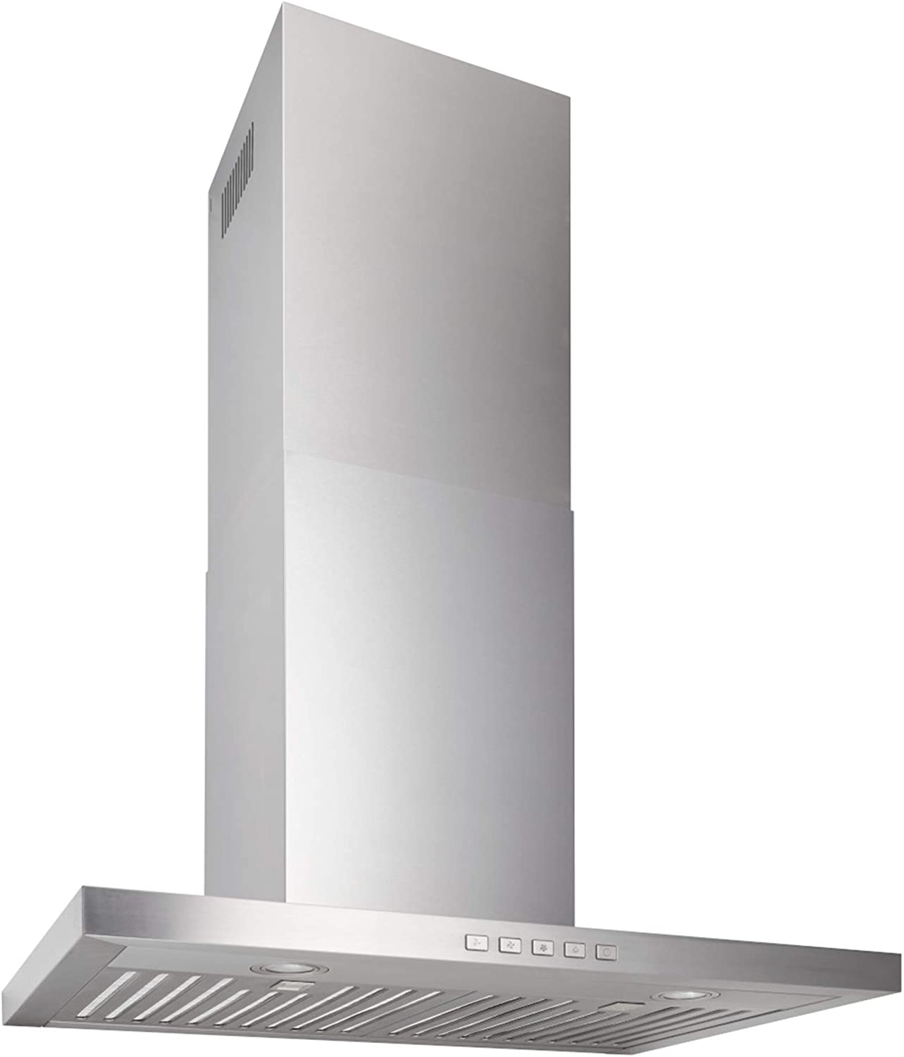 Broan-NuTone BWT2304SS Convertible Wall-Mount LED Lights T-Style Chimney Range Hood, Stainless Steel
