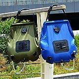 CFtrum Bolsa Ducha Solar 20L PVC Plegable Portátil para Camping Excursión Al Aire Libre Color Azul