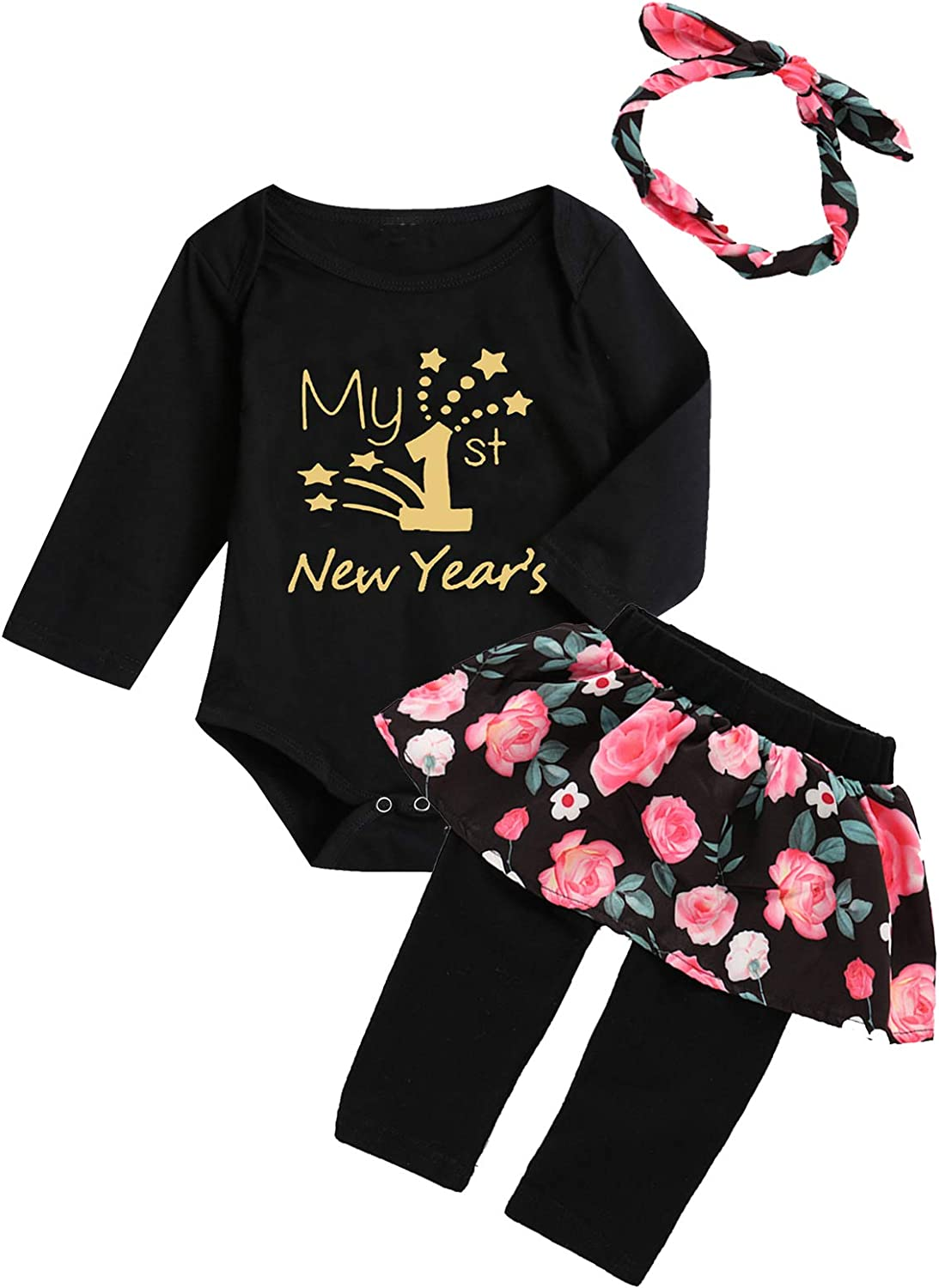 Truly One Baby Girl First New Year Outfit 1st New Year Skirt Set