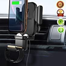 3 in 1 Qi Wireless Car Charger Air Vent, Fast Wireless Charging Holder Car Phone Mount for Apple Watch/Airpods/iPhone 11 Pro Max/X/XR/XS Max and Samsung Galaxy S10/S10 Plus Note9/S9/S8/Note 10 Plus