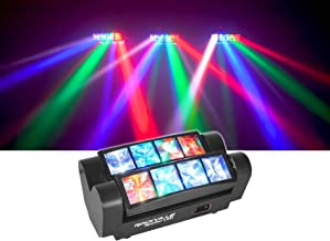 Rockville Spyder LED (8) Beam Moving Head Motorized DMX DJ/Party/Club Pro Light