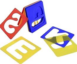TecUnite 26 Pieces Alphabet Stencils Set Plastic Letter Stencils for Painting Learning, DIY Craft Decoration