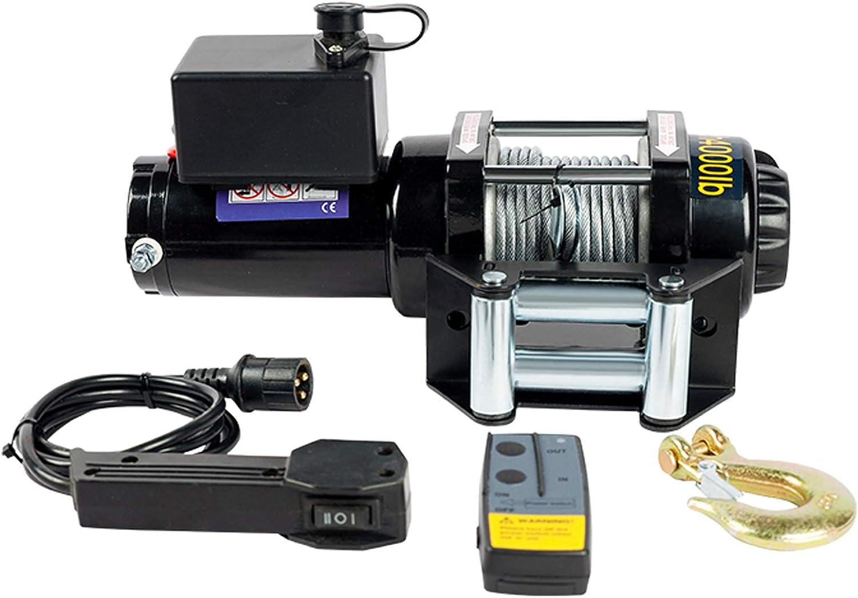 XZZ Cabestrante Electrico, Cabrestante Eléctrico Todoterreno De Cable Metálico, con Dos Controles Remotos (1 Inalámbrico Y 1 con Cable), para Camiones, 4x4, Remolques (3000 LB, 3500 LB, 4000 LB)