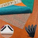 Alfombra antideslizante para suelos de madera, antiincendios, 150 x 200 cm, no tóxica e inodora, para el hogar con calefacción por suelo radiante