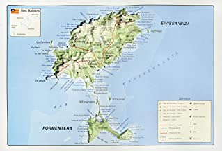 Mapa en relieve de Ibiza - Formentera: Escala gráfica