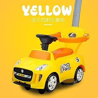 JBtoy 子供車両スクーターキャスターカーツイストライディングカーウォーカー小さな赤ちゃん幼児ライドで車の屋外屋内スポーツおもちゃ (Color : Yellow)