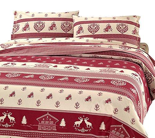 Confezioni Giuliana Trapunta Invernale Due 2 PIAZZE Matrimoniale Tirolese TIROLO Rosso