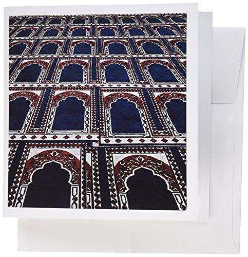 3dRose Muster der Gebetsteppiche Islamische Moschee Kairo Ägypten AF14 AJE0030 Adam Jones Grußkarten, Set von 6 (gc_74155_1)