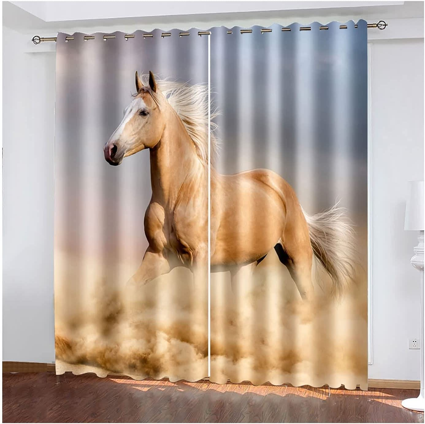 Window Curtains 2 Panel Special Year-end gift price Sets Drapes Gallopi Curtain Bedroom for