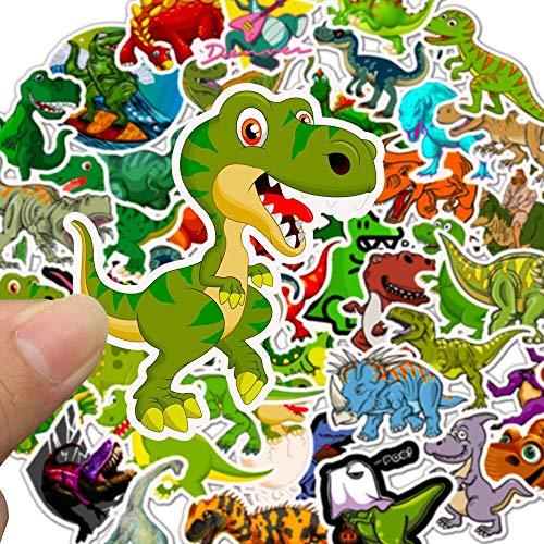 50 Uds Pegatinas de Dinosaurio de Animales Juguetes Pegatinas Impermeables para niños para Pegatina DIY en Pegatinas de Equipaje de monopatín portátil