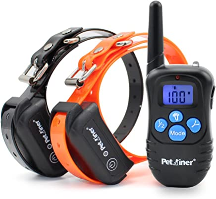 Petrainer 100% Waterproof Dog Shock Collar with Remote Dog Training Collar with Beep Vibration Shock Electric Dog Collar, 1000FT Remote Range
