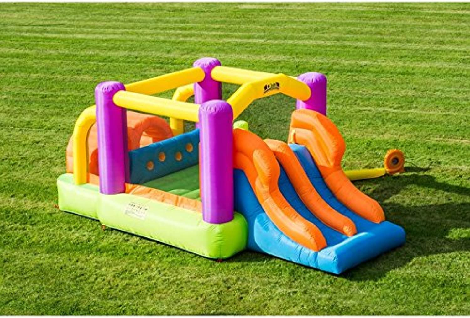Inflatable Obstacle Course Course Course with Double Slide 4b9a43