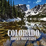Colorado Rocky Mountains Calendar 2021: 16 Month Calendar