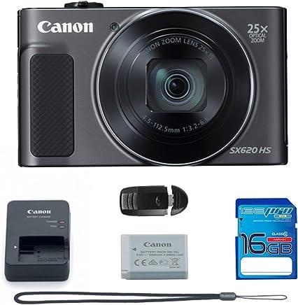 Canon PowerShot SX620 HS Digital Camera (Black) +...